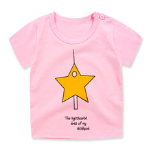 New Sport Baby Girls Boys t-shirt Short Sleeve Cartoon Pattern t-shirts for Girls Cotton Children Clothes