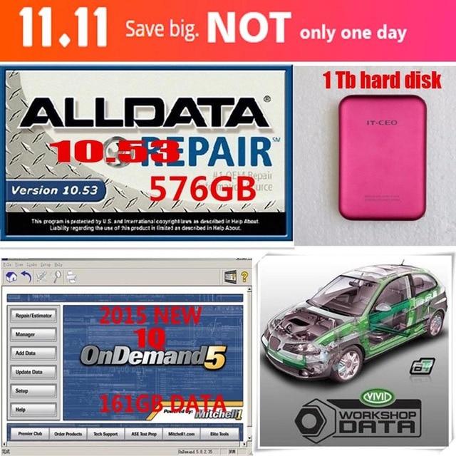 1 TB HDD Für Alldata 10,53 + 2015 Mitchell Ondemand 1Q + Lebendige ...