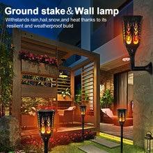 Solar Led Lawn Light Powered Decorative Flame Lamp Waterproof Lanscape Torch Flickering Flames Light Energy Saving lamp Lighting цена 2017