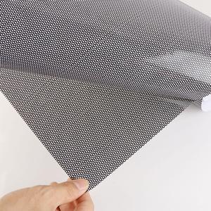 Image 5 - Universal 30x107CM PVC Perforated Mesh Hollow Film Car Headlight Taillight Car Styling Car Light Sticker  Car Wrap