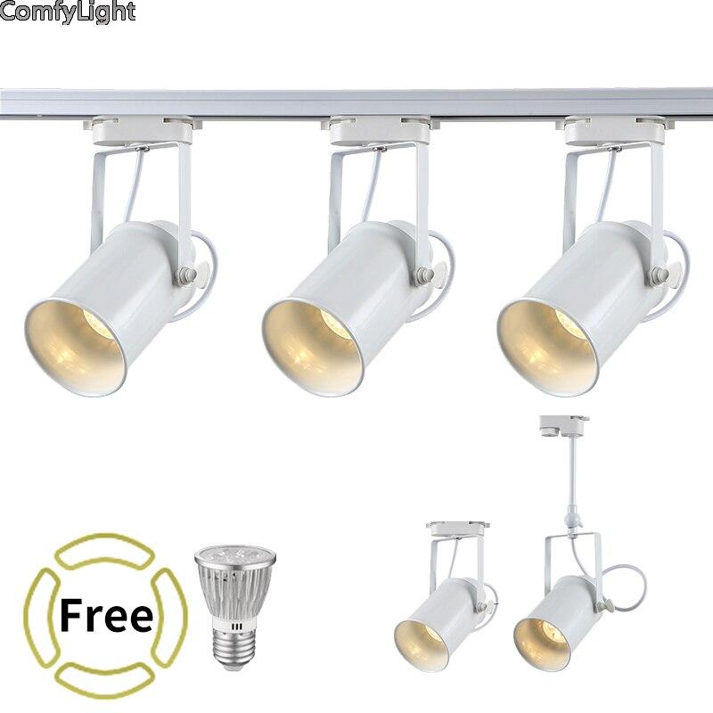 LED spotlight COB Track Rail Light AC85- 265V Spotlight Adjustable lamp Mall Exhibition Office ceiling/wall Rail Track Lighting