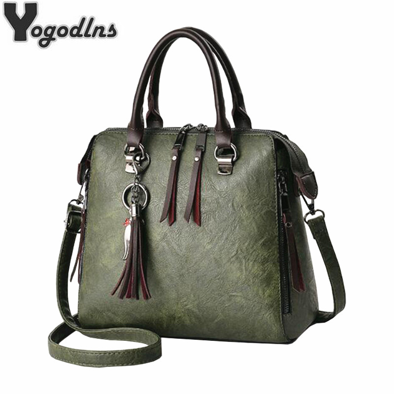 2019 Fashion Tassel Women Shoulder Bags Large Capacity Casual Leather Female Handbag Rivet Zipper Crossbody Bags for Women2019 Fashion Tassel Women Shoulder Bags Large Capacity Casual Leather Female Handbag Rivet Zipper Crossbody Bags for Women