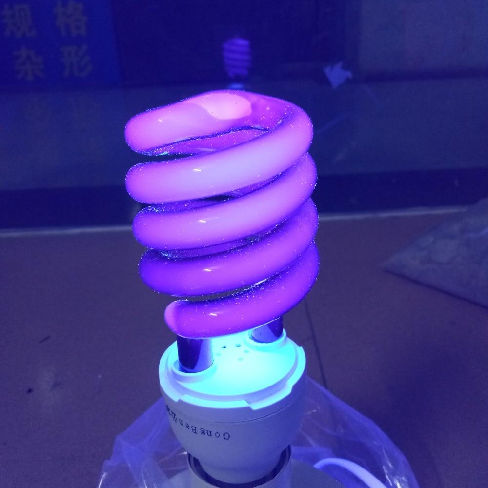 E27 40W 220V Ultraviolet Light Energy Saving Bulb Spiral Quartz Fluorescent UV Black Light Violet CFL 365nm Stage Effect Lamps