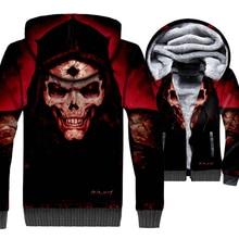 New Fashion Streetwear Hoodies Men 2018 Autumn Winter Brand Clothing SKULL 3D Pattern Mens Sweatshirts Harajuku Hoodie Jacket