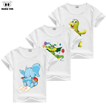 DMDM PIG Children Short Sleeve T-Shirts For Boys Girls T-Shirt Christmas Kids Cars Baby Teen Girl Tshirt Clothes Size 8 10 Years