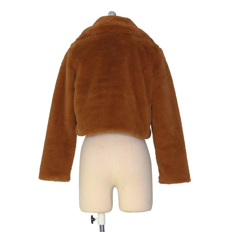 autumn winter faux fur coat short jacket-17