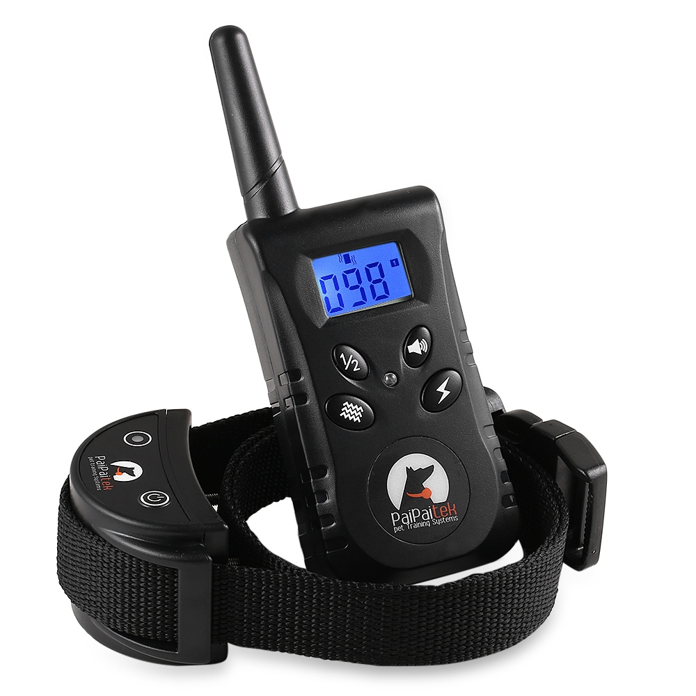 PaiPaitek PD520 Rechargeable and Rainproof Remote Dog Training Shock Collar with Beep Vibration and Shock Electronic