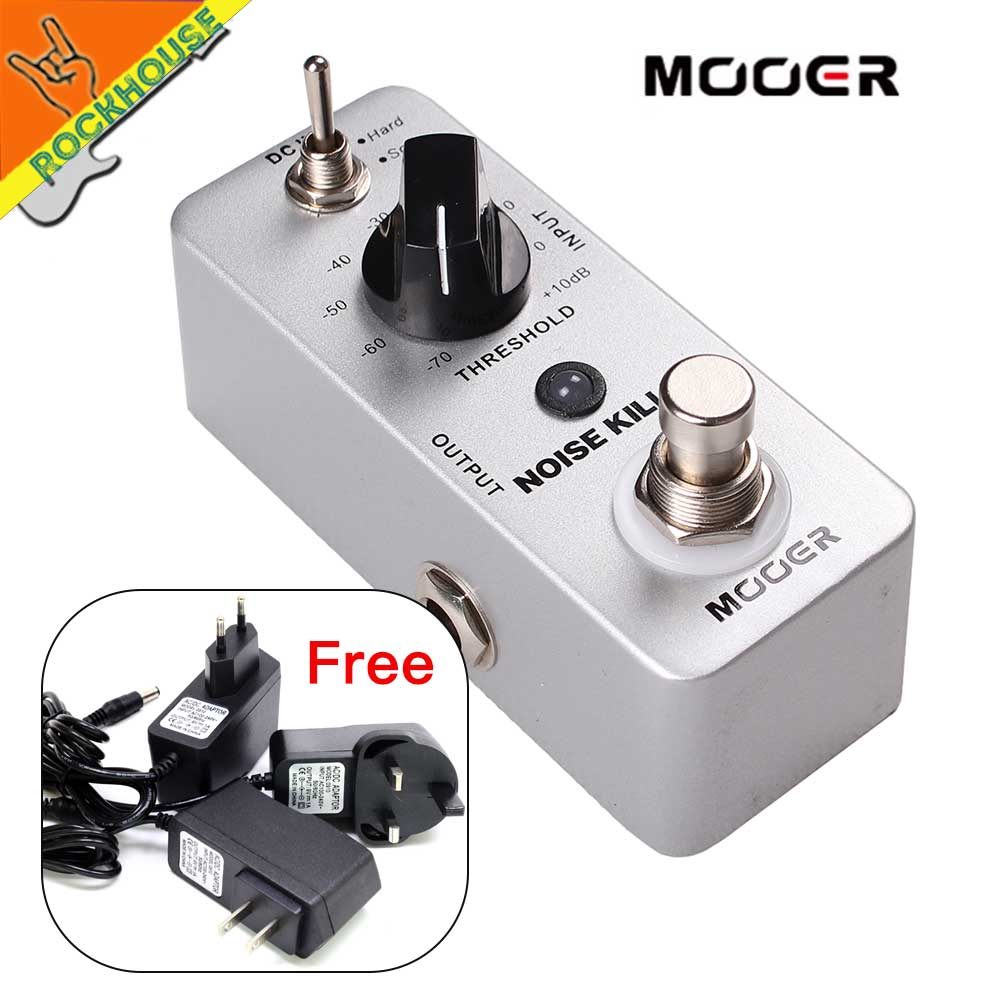 MOOER Noise Killer Noise Gate Guitar Effects Pedal to Reduces the extra noise 2 Modes: Hard and Soft True Bypass Free Shipping
