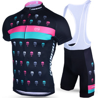 Quick Dry Evil Short Sleeve Cycling Set Breathable Bike Clothing Riding Ropa Ciclismo Bicycle Jersey Pad