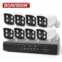 BOAVISION 8CH 1080P POE NVR CCTV System Kit With 8PCS 1080P 2MP IR 20M Bullet POE