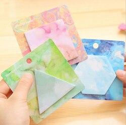 6.5x6.5cm personalidade criativa bloco de memorando notas pegajosas memorando bloco de notas bookmark papel adesivo para crianças estudantes escola escritório fornecimento