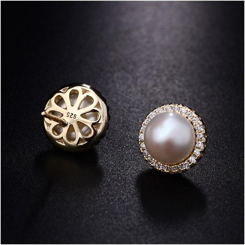 Hongye Yeni Moda Pank Stud Sırğaları Real 925 Sterling Gümüşü - Gözəl zərgərlik - Fotoqrafiya 3