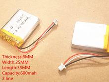 Wideo rejestrator 388 600 MAH o dużej pojemności model 582535 602535 P polimerowa baterii thium 3 linii