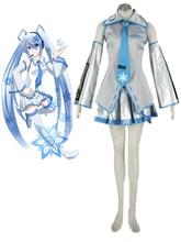 Envío Libre Vocaloid 2 Nieve Hatsune Miku Anime Cosplay Costume