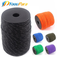 YoouPara 100m Spools Reflective Paracord 7 Strand Parachute for Outdoor Campling Tent Wind Rope Survival Emergence Rope Cord
