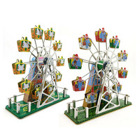 Vintage Clockwork Wind Up Ferris wheel Music toys Photography Children Kids Adult Tin Toys Classic Toy Christmas Gift