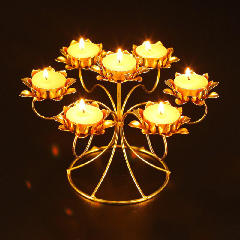 Aliexpress.com : Buy Assembled Stainless Steel Butter Lamp Candle ...
