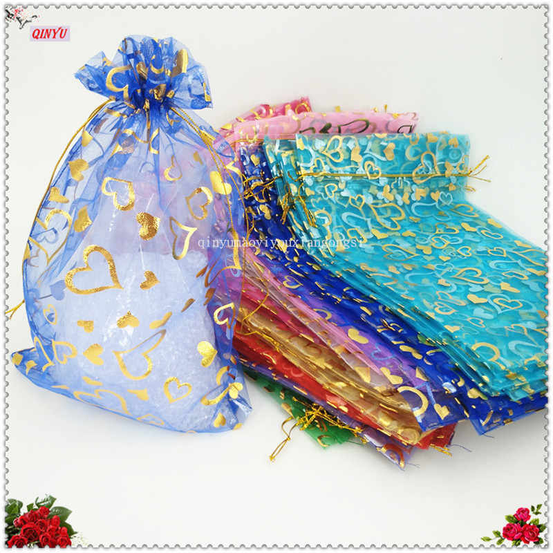 Jewelry Pouches Organza Packaging Bag 50pcs/lot 20x30 cm large Pouches Gift Jewelry Packing  Wedding Gift Bags 5ZSH328