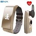 Smartband & fone de ouvido bluetooth heart rate monitor de fitness rastreador pulseira para ios android pk huawei talkband b2 mi banda 2