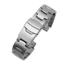 Stainless Steel Wristband Metal Strap Bracelet Replacement For CASIO PRG-300/260/550/250/500 PRW-6000/6100/3000/3100/3500/2500 prg 4000