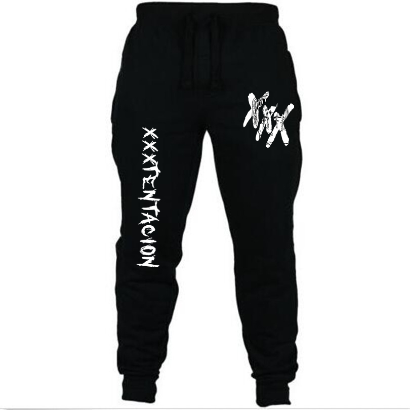 New Men's Trousers Streetwear Hip Hop XXXTentacion Casual Pants Men Fitness Joggers Sweatpants Autumn Fleece Thickening Lacing(China)