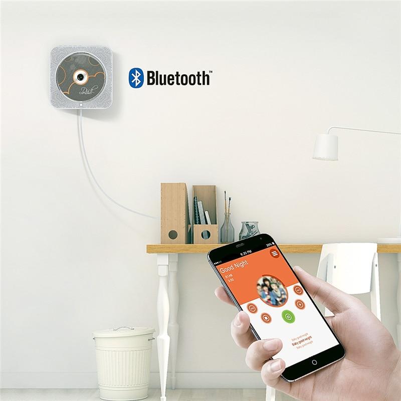 <font><b>Portable</b></font> <font><b>Bluetooth</b></font> Home Audio Wall Mountable <font><b>CD</b></font> <font><b>Player</b></font> Boombox with Remote Control FM Radio Built-in HiFi Speakers USB MP3