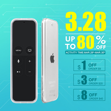 Sikai For Apple TV 4th Generation Remote Case for Apple TV 4 tv4 Soft Transparent TPU Remote Control Case Cover