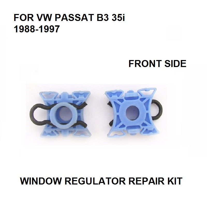 X2 WINDOW PLASTIC SLIDER CLIPS FOR VW PASSAT B3 35i 3A5 1988-1997 WINDOW REGULATOR REPAIR KIT FRONT LEFT Or RIGHT NEW