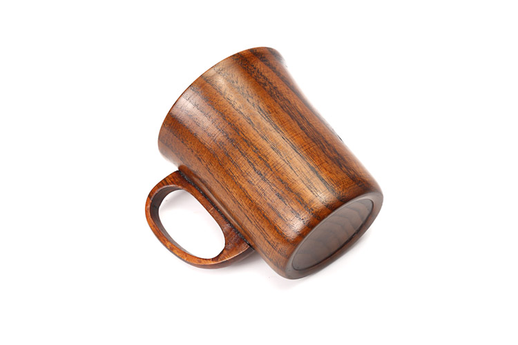300ml Primitive Wooden Beer Mugs with Handle Natural Wood Mug Coffee Cup Tableware Kitchen Supply (1)