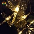 Lâmpada LED 4 M 40 LED Libélula Pingente Luzes Cordas Garland para Decoração de Jardim Decoração Do Partido Suprimentos