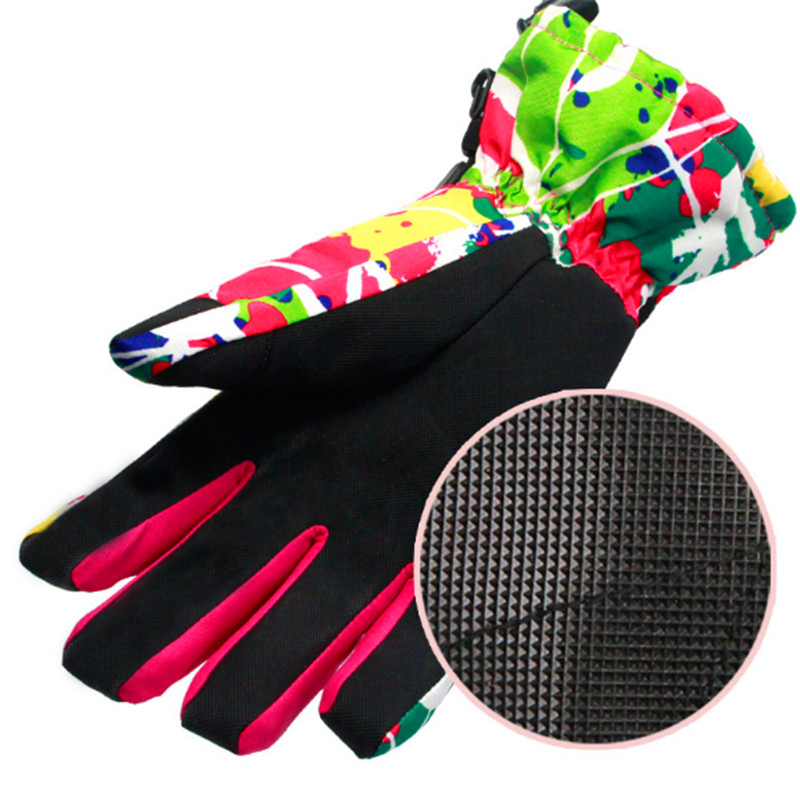 Professional Women Men Ski Gloves Nonslip Snowboard Glove Snowmobile Motorcycle Riding Keep Warm Windproof Waterproof Gloves in Skiing Gloves from Sports Entertainment