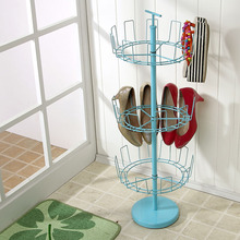 Iron three rotating shoe rack creative paint dust door after storage