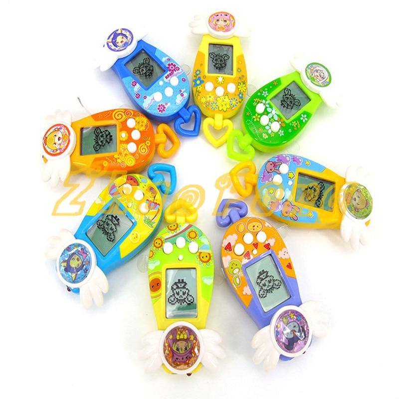 8 warna hewan peliharaan mesin nostalgia maya mainan hewan peliharaan - Mainan elektronik - Foto 3