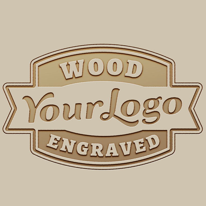 Your Logo is Welcome Logo Custom Engrave on Bamboo Wooden Watches Wood Sunglasses Gift Box Logo Laser Engrave Fee OEM/ODM circle