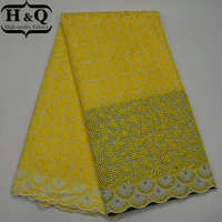 2017 New style African French lace fabrics High quality With stones organza Floret yellow cord Swiss lace For wedding decoration