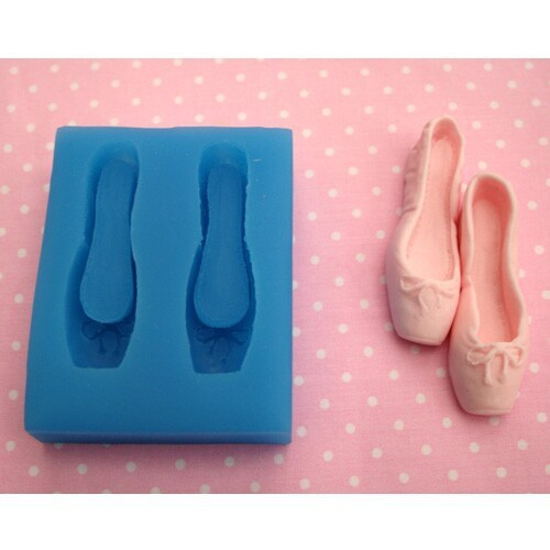 Buy ballet shoes sugar silicone mold for Ballet shoes decoration