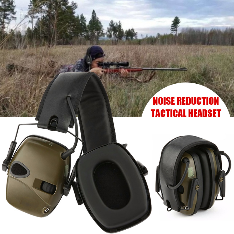 Tactical Protective Headset Batteries Hearing Protection Professional Electronic Earmuff Adjustable Headband Tactical