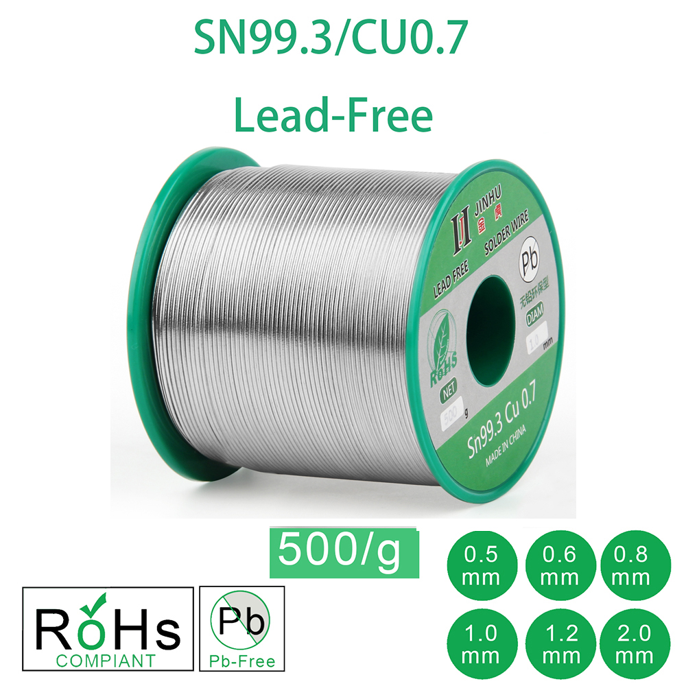 500g 1 1LB Lead Free Solder Wire Sn99 3 Cu0 7 Rosin Core for Electrical Solder RoHs