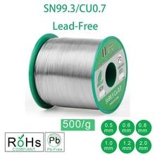 500 г 1.1LB бессвинцовый припой провода Sn99.3 Cu0.7 канифоль ядро для электрического припоя RoHs