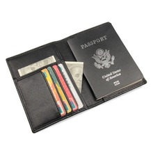 J.M.D Vintage Genuine Leather Passport Holders RFID Travel Wallet Document Cover Credit Card Holder