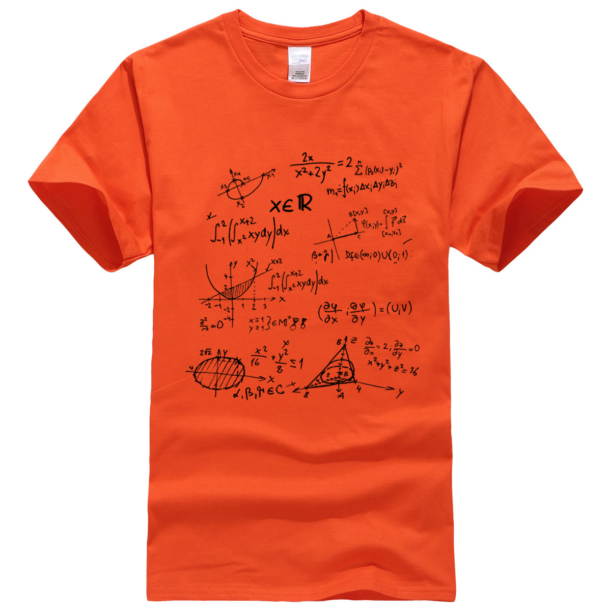 T-shirt 2019 summer Mathematical Formula men's T-shirts The Big Bang Theory t shirt men sportwear brand-clothing top tees cotton