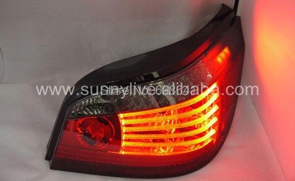 For E60 520i 523i 525i 528i 530i LED rear light for BMW Red Smoke