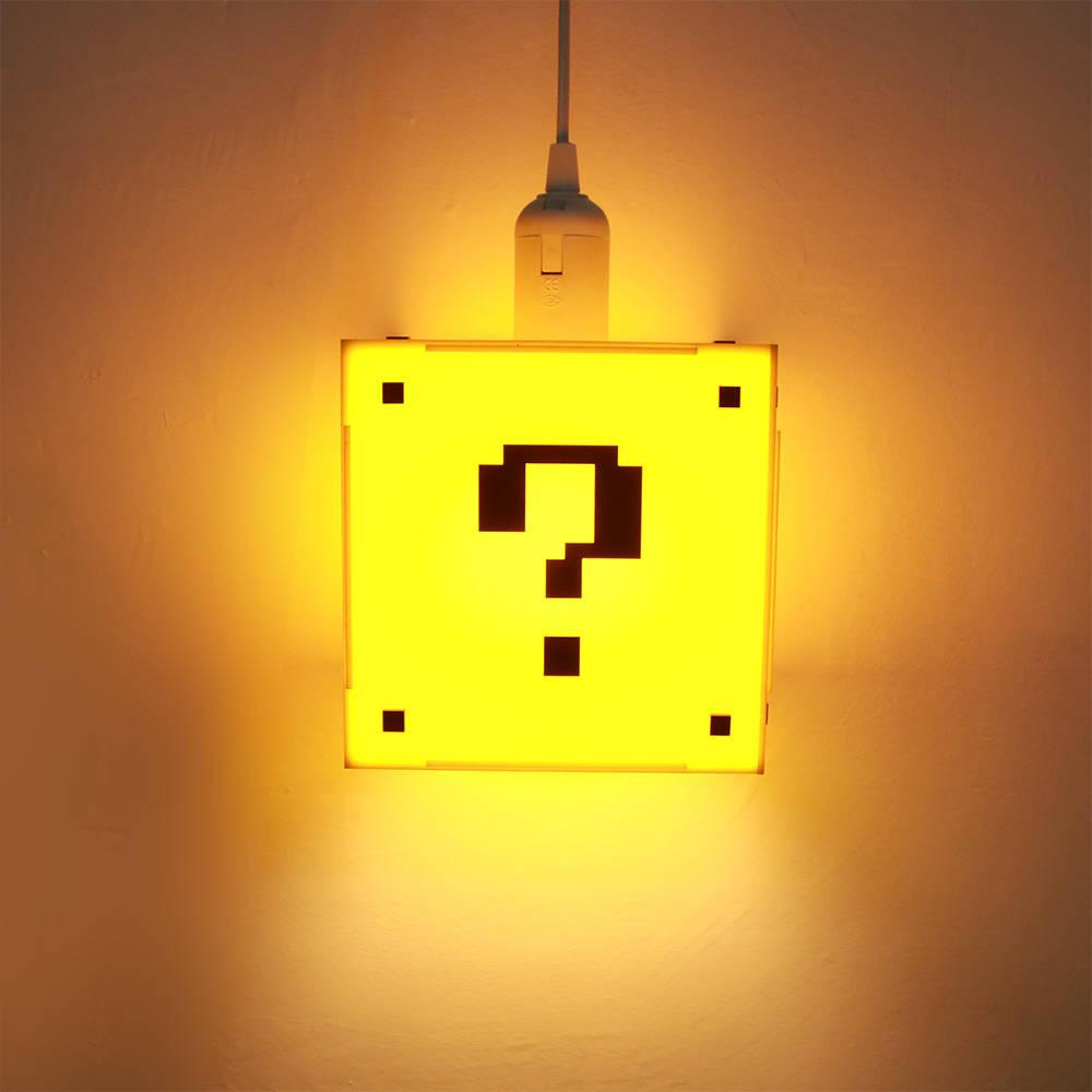 Classical Game Question Mark Shape Block Hanging Lamp Game Room Lighting Kid Room Decor Pendant Light Modern Ceiling Lighting