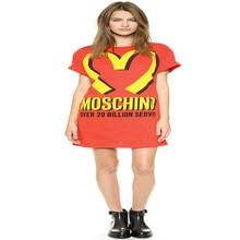 Fashion spring and summer season Mcdonald medium-long free letter print o-neck short-sleeve t-shirt feminine free transport