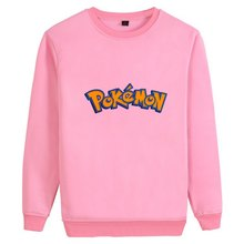 Cool Pikachu Pokemon Lightning Logo Illustration Cartoon O-NECK Cotton Sweatshirts Teen Casual Unisex Sweat Shirt A19531(China)