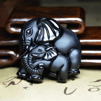 New Pattern Goods In Stock Brand New Natural Elephant Women Fund Stone Sand Pendant Wishes Auspicious Pendant Pendant