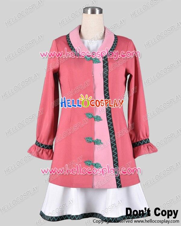 Touhou Project Cosplay Kyouko Kasodani China Buckle Pink Dress Costume H008