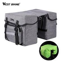 WEST BIKING Bicycle Rear Bag 25L Bike Seat Trunk Pannier Luggage Carrier Outdoor Rain Cover Fietstassen Cycling