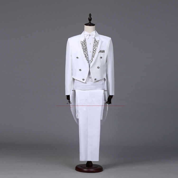 De la boda mágica trajes formales para graduación novio esmoquin ropa de los hombres de servicio directo hombre disfraz vestido formal conjunto cantante fiesta XS-XXL