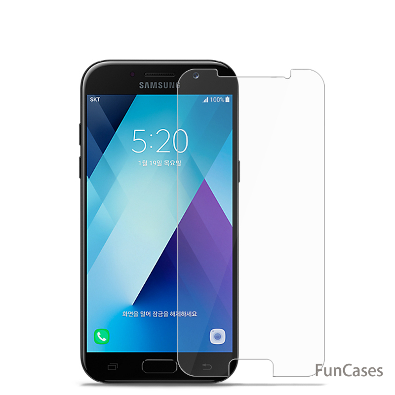 Tempered Glass For <font><b>Samsung</b></font> Galaxy A8 2018 A530 A3 A5 A7 <font><b>2017</b></font> J1 <font><b>J3</b></font> J5 J7 A3 A5 A7 2016 J120 J320 J510 A510 Screen Protector image